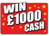 Win £1000's For Free!