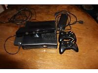 xbox 360 250g with games and 2 controller and charger pack