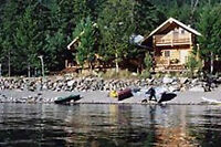 Kootenay Lake Waterfront Log Chalet - right by the water