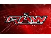 WWE RAW Tickets x 2 Great Seats - Manchester Arena Monday 6th November