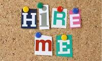 Seeking job asap, day hrs, Outgoing, Efficient & Ready to Learn!