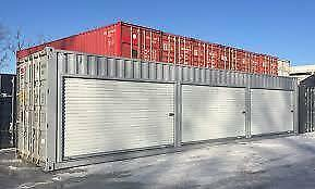 New White 7' x 7' Ocean Container & Green House Roll-up Doors