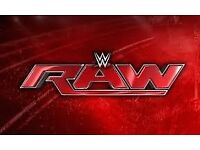 WWE RAW Tickets 2 GREAT SEATS Blk C row F Manchester Arena Monday 6th November £299 The pair