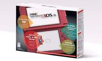 Red Nintendo 3DS XL - new + free charging station