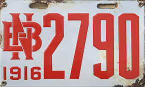 RARE NEW BRUNSWICK PORCELAIN LICENCE PLATES WANTED