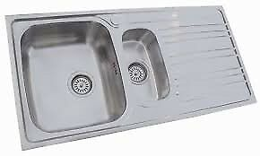 **BRAND NEW**STAINLESS STEEL KITCHEN SINK WITH MIXER TAP 1.5 Bowl