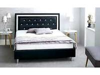 Crystal, leather bed, double, ortho, mattress, kingsize,