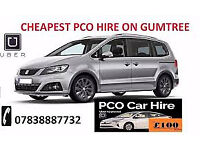 HIRE A PCO CAR/ UBER READY / CHEAPEST HIRE IN LONDON / from £100***/