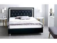 Double, diamond, leather bed, kingsize, mattress,