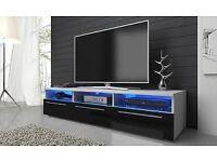 Designer TV Unit Cabinet with Led Lights 150 cm