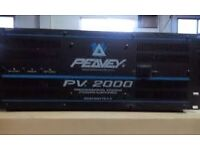 PEAVEY pv 2000 2 X 1000W per channel in excellent condition power house GREAT