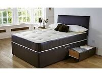 DOUBLE LUXURY MEMORY FOAM 12 INCH DUAL SIDED DIVAN BED AND MATTRESS , SINGLE/KINGSIZE ALSO,SAME DAY