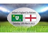 Ireland v England Six Nations Rugby in Dublin Ticket