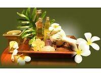 Relaxing Thai oil massage.