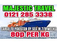Sea Cargo to Pakistan only 80p per kg