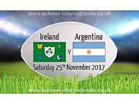 2 x IRELAND V ARGENTIAN RUGBY TICKETS - AVIVA - PREMIUM LEVEL