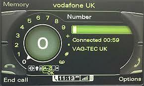 Audi Q7 2009> 3G MMI Bluetooth Activation