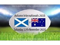 Rugby Tickets! Scotland vs Australia 12 Nov 2016! Murrayfield! Urgent sale!