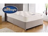 SilentNight Double Mattress NON-SLIP With Double Divan Bed, Sealed, Brand New, RRP £450 selling £150