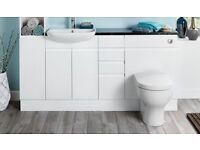 Wickes Hertford Continuous Bathroom Cabinets Plinth 2.5m