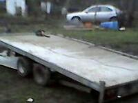 Flat bed car trailor
