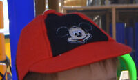 Lost hat with mickey mouse logo