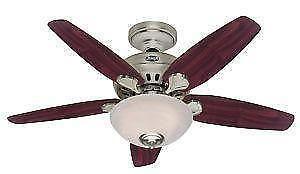 used ceiling fans electric hunter brushed nickel ceiling fans fan ebay