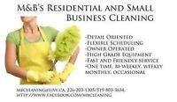 Are you looking for a one time THOROUGH clean?