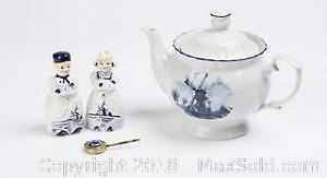 Lot of Dutch Decorated Collectibles, one Delft