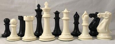 Gambit Chess - Gambit Chess Set - Double Weight -  4 inch King Plastic Chess Set - 2XQs