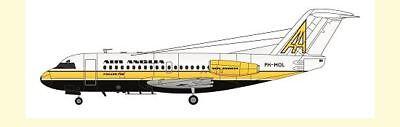 F-rsin 1/144 Fokker F-28-1000 Air Anglia FRP4088