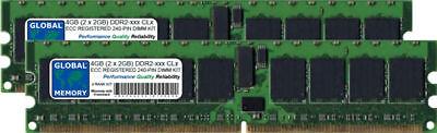 4GB (2 x 2GB) DDR2 400MHz PC2-3200 240-PIN ECC REGISTERED RDIMM SERVER...