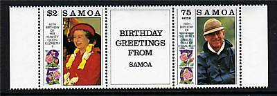 Samoa 1991 Royal Birthdays SG861/2 MNH