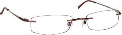Tuscany Men's Legacy Eyeglasses MUF 10 Light Brown Rimless Optical Frame 49mm