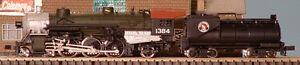 NEW DC Model Train, Model Power 4-6-2 Great Northern in N scale