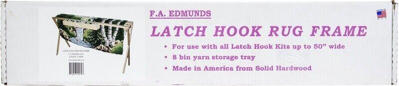 "Frank A. Edmunds Floor Standing Rug Hooking Frame-17""X30""X45"""