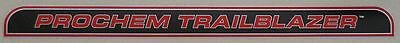 Prochem Truckmount Trailblazer Decal Sticker Carpet Cleaning Machines New
