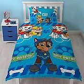 blue paw patrol single duvet set