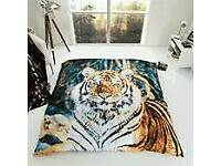 TIGER MINK FAUX THROW