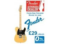 Fender - Classic Player - Baja Telecaster - Maple Fingerboard Blonde - Brand New In Store!!!