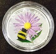 2012 Aster with Bumble Bee (Murano Glass) $20 Silver Coin