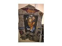 Biker Jacket with Triumph, Norton and Harley Davidson Badges