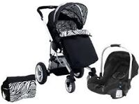 Petite star kurvi pram and carseat