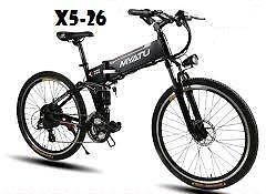 "Weekly Promotion!   26""  Aluminum alloy Folding   Mountain eBike, X5-26,black  $1299(was $1499)"