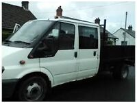 FORD TRANSIT CREW CAB REAR DOORS, TINTED GLASS,BREAKING, PARTS,PROP SHAFT,REAR AXLE,TIPPER BODY...