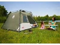 NEW FESTIVAL INSTANT COLEMAN TOURER 4 BERTH TENT IN BOX WITH INSTRUCTIONS