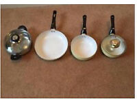 Cooks Set of pots and pans