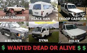 "Wanted: Wanted"" Cash for any damage or broken trucks, cars, ute, van, 4x4"