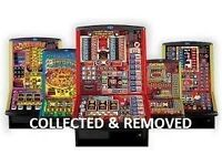 None Working Fruit Machines, Slot Machines, Bandits, Single Pushers, Coin Operated Amusements, Etc