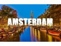 2 x Return Flights to Amsterdam from Manchester 19th February to 22nd February - Includes Baggage